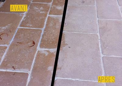 Nettoyage pierres extérieures maison - PL nettoyage Services à Savignac