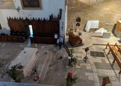 Nettoyage de l'église de Najac